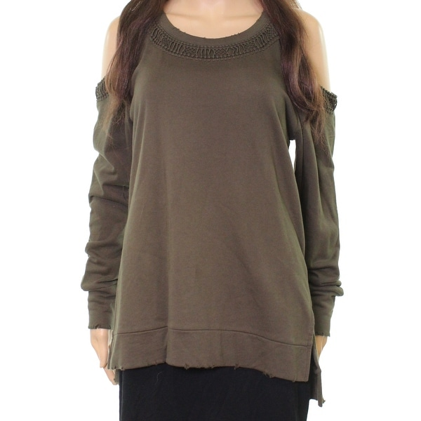 0d62b986f33 Shop Joe s Jeans Olive Womens Cold Shoulder Sweatshirt - Free Shipping On  Orders Over  45 - Overstock - 21624576