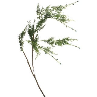 """Link to 35.5"""" Green and Brown Cypress Hanging Artificial Christmas Spray Similar Items in Decorative Accessories"""