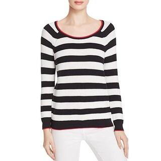 Soft Joie Womens Danila Pullover Sweater Striped Scoop Neck - s