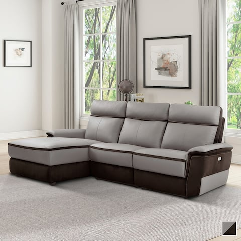 Barberton Power Modular Reclining Sectional Sofa with Left Chaise