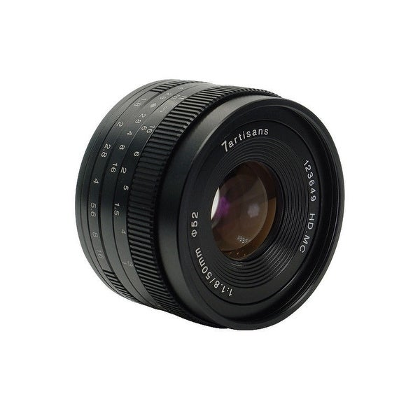 7artisans 50mm f/1.8 Manual Lens (Black) for Micro Four Thirds Cameras - Black
