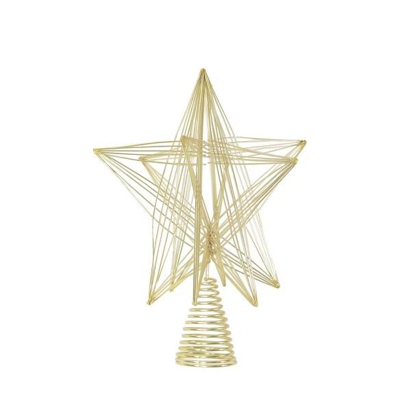 10 Gold 3d Geometric Star Christmas Tree Topper N A