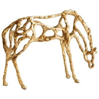 Cyan Design 09099  Ponder Iron Horse Statue - Gold
