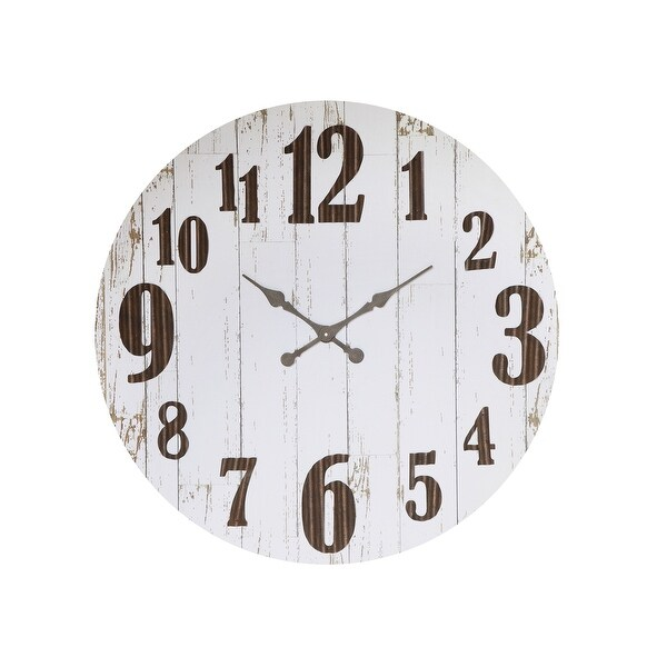 Black & White Wood & Metal Wall Clock. Opens flyout.