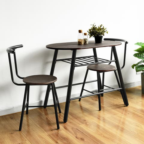 Carbon Loft Searz 3-piece Dining Set Table and Chairs