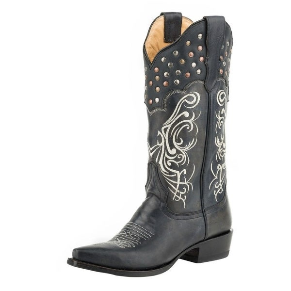 Stetson Western Boot Womens Big Lila Leather Black