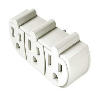 Stanley 3-Outlet Indoor Wall Adapter - Coverts One Outlet into Three