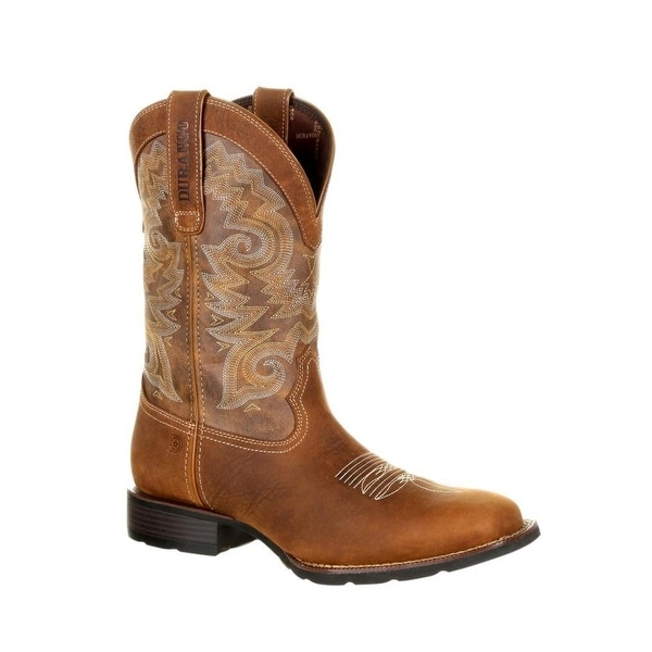 Durango Western Boots Mens Mustang Saddle Brown Tobacco