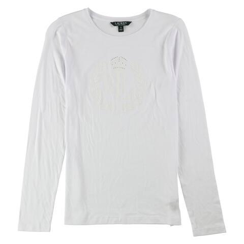 Ralph Lauren Womens Stud Graphic T-Shirt