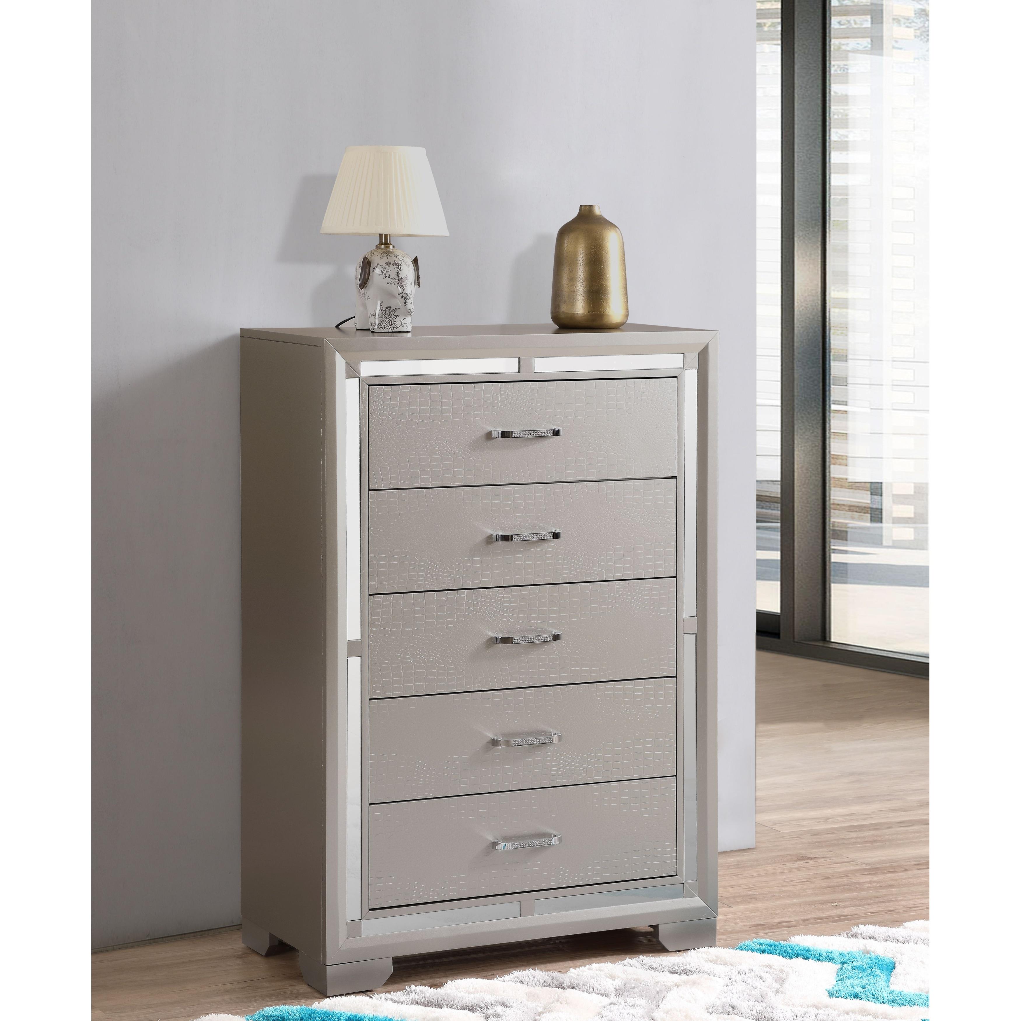 Alana Wood 5 Drawer Bedroom Chest Overstock 32545903