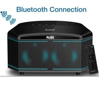 "Boytone BT-64B, Premium HiFi Stereo Bluetooth Home, 100W Amp, Super Bass, 6.50"" Subwoofer Dual 3""X 4 Midrange/Tweeter, FM Radio"