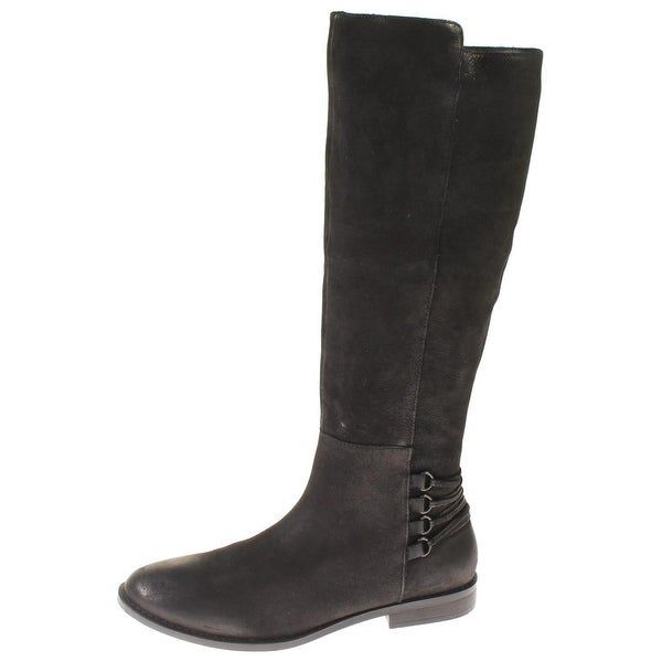 Steve Madden Womens Zina Riding Boots Nubuck Knee-High