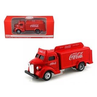 1947 Coca Cola Delivery Bottle Truck Red 1/87 Diecast Model by Motorcity Classics