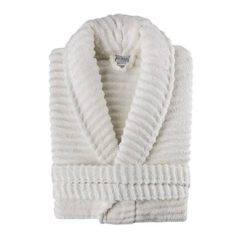 Ribbed Zero Twist Turkish Cotton Unisex Bathrobe