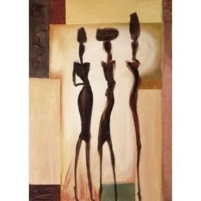 ''Island Ladies II'' by Alfred Gockel African American Art Print (27.5 x 19.75 in.)