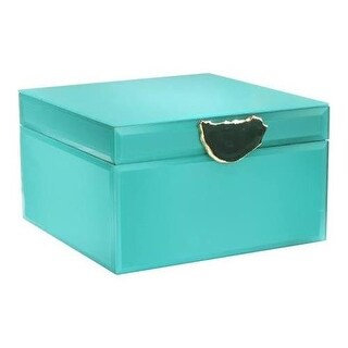 American Atelier Agate Peacock Jewelry Box, Green