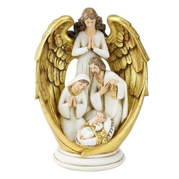 "10"" Joseph's Studio Angel Watching Over the Holy Family Christmas Nativity Figure - WHITE"