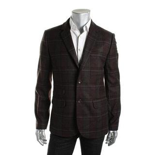 Tommy Hilfiger Mens Wool Blend Plaid Sportcoat