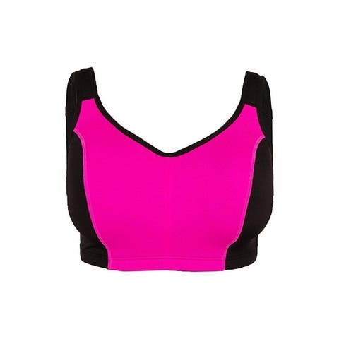 Ideology High-Impact Adjustable Sports Bra Black/Pink, 40DD