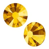 Swarovski Elements Crystal, Round Flatback Rhinestone SS5 1.8mm, 72 Pieces, Crystal Metallic Sunshine F