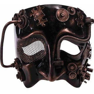 Steampunk Costume Mask Bronze Adult