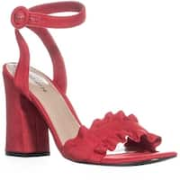 Indigo Rd. Sandie Block Heel Sandals, Medium Red