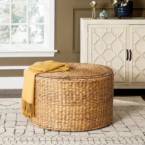 "Safavieh Jesse Wicker Natural Coffee Table - 28.5"" x 28.5"" x 17"""