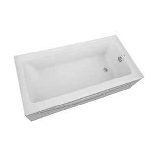 "Proflo PFS6030LSK 60"" Soaking Bathtub for Alcove Installations with Left Hand Drain and EasyCare Acrylic"