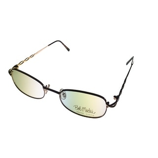 Bob Mackie Womens Opthalmic Eyeglass Rectangle Metal BM 111 Gold Tortoise - Medium