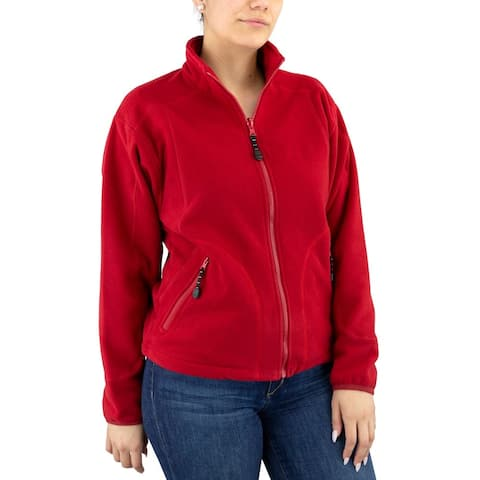 River's End Microfleece Jacket Womens Athletic Jacket Lightweight -