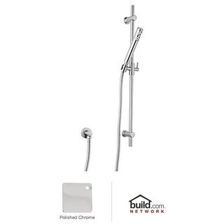 "Rohl 1600 Modern Single Function Hand Shower with 29-1/2"" Slide Bar, 58"" Hose, and Wall Supply Elbow"