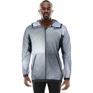 Nike Mens Shield Athletic Jacket Hooded Striped