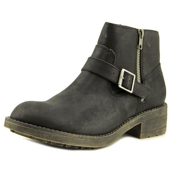 Rocket Dog Thyme Women Round Toe Synthetic Black Ankle Boot
