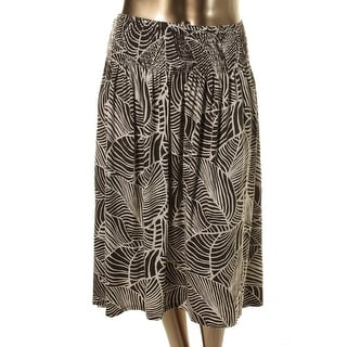 Jones New York Womens Plus Knit Printed Maxi Skirt - 1X