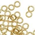 14K Gold Plated JUMPLOCK Jump Rings 4mm Diameter 20 Gauge Thick (100) - Thumbnail 0