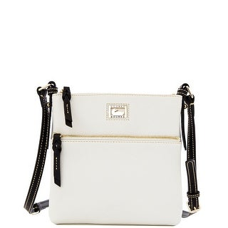 Dooney & Bourke Dillen Letter Carrier (Introduced by Dooney & Bourke at $168 in Dec 2012) - White Black