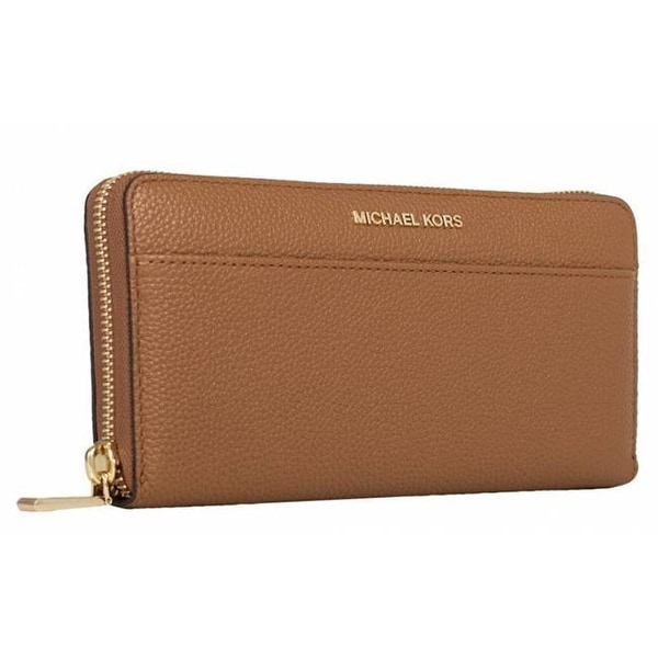 22ca63d3bc755 Shop Michael Kors Women s Mercer Zip Around Continental Wallet - Acorn - -  Free Shipping Today - Overstock - 25230844