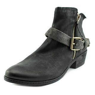 Dolce Vita Nevada Women  Round Toe Leather Black Ankle Boot