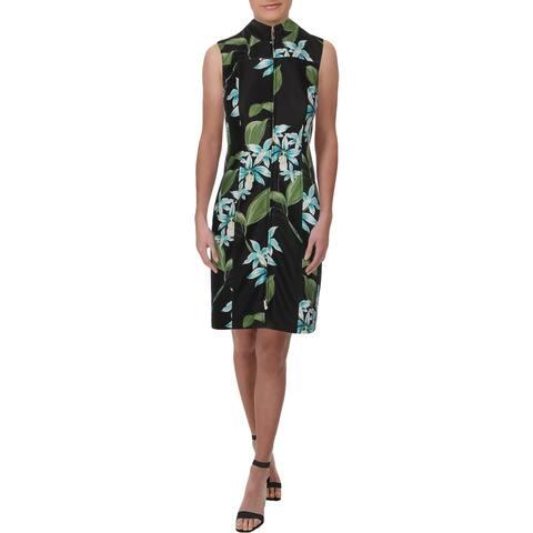 Tommy Hilfiger Womens Oleander Scuba Dress Printed Sleeveless