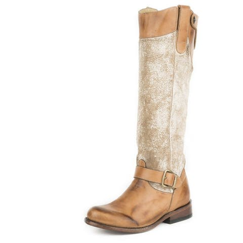 Stetson Fashion Boots Womens Harness Zipper Round - Brown