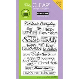 "Celebrate Everyday - Hero Arts Clear Stamps 4""X6"" Sheet"
