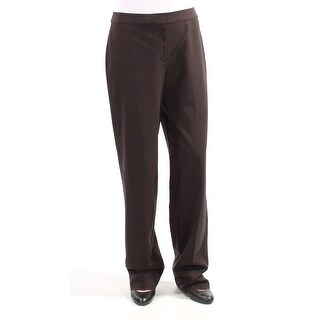 ST JOHN $495 Womens New 2358 Brown Straight leg Wear To Work Pants 10 B+B