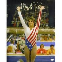 Mary Lou Retton Autographed USA Olympics 8x10 Photo Toe Point JSA