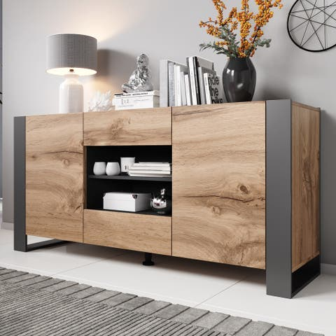 Woody Modern 64.5-inch Sideboard Buffet