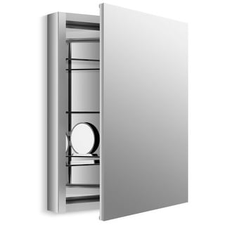 "Kohler K-99007 Verdera Collection 24"" x 30"" Mirrored Medicine Cabinet with Adjustable Magnifying Mirror and Slow Close Door"