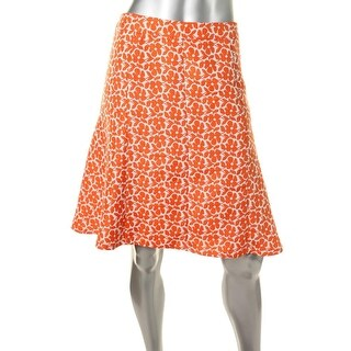 Jones New York Womens Jacquard Floral Print A-Line Skirt - 12