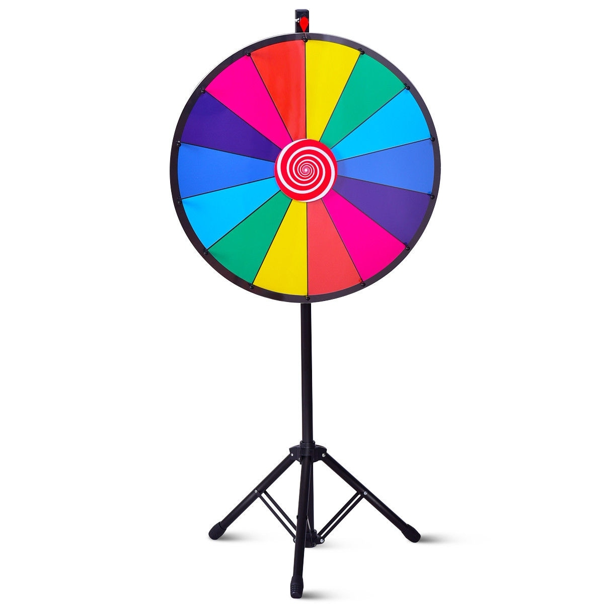 Home Furniture Diy 24 Colour Prize Spinning Wheel Dry Erase Fortune Tabletop Spin The Wheel Game Kisetsu System Co Jp