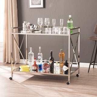 Link to Silver Orchid Munchofen Metal Gold Bart Cart Similar Items in Home Bars