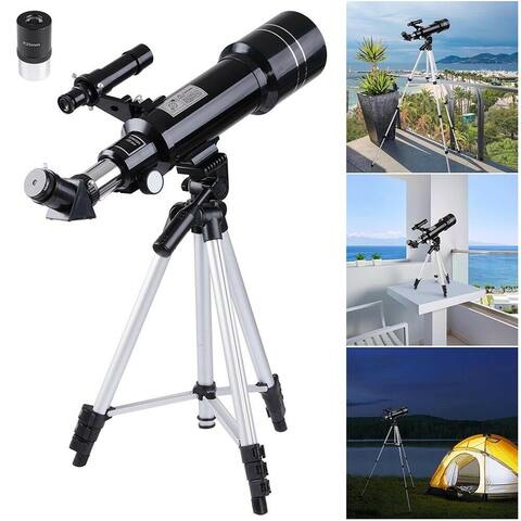NewAge 70mm Astronomical Refractor Telescope Refractive Eyepieces Tripod Kids Beginners - 70 mm