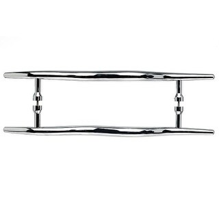 Top Knobs M854-18pair Nouveau Collection 18 Inch Center to Center Polished Chrome Brook Back to Back Door Pull Pair